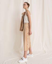 Pantalon cropped avec boutons Beige «Golden Powder» Femme 201LL2CPP-0T