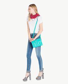 "TWINSET Shoulder clutch bag Sapphire Green ""Smart"" Print Woman RS8TF1-05"