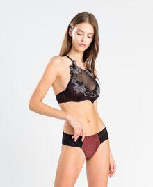 Bustier avec imprimé animalier ImpriméRougeâtreLéopard Femme LA8G33-02