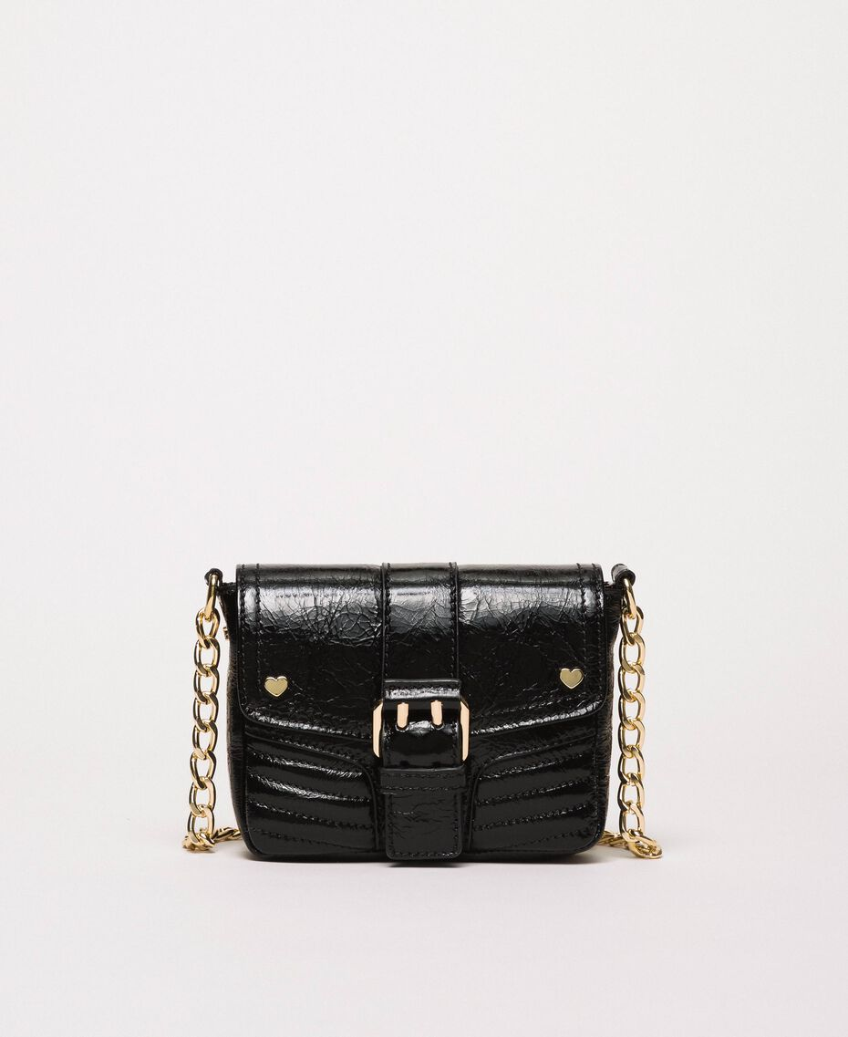 Small Rebel leather shoulder bag Black Woman 201TO823T-01