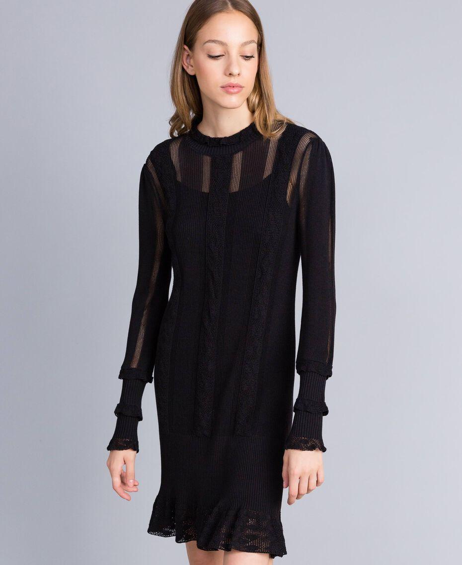 Черное платье хлопок кружево купить ткань недалеко от дома