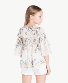 Bluse mit Blumenprint Blumenprint / Helles Rauchgrau Kind GS82E3-04