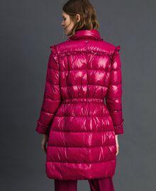 Doudoune longue matelassée en plumes véritables Rouge Betterave Femme 192TP2201-04