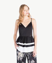 Top Noir / Blanc Optique Femme YS82FB-01