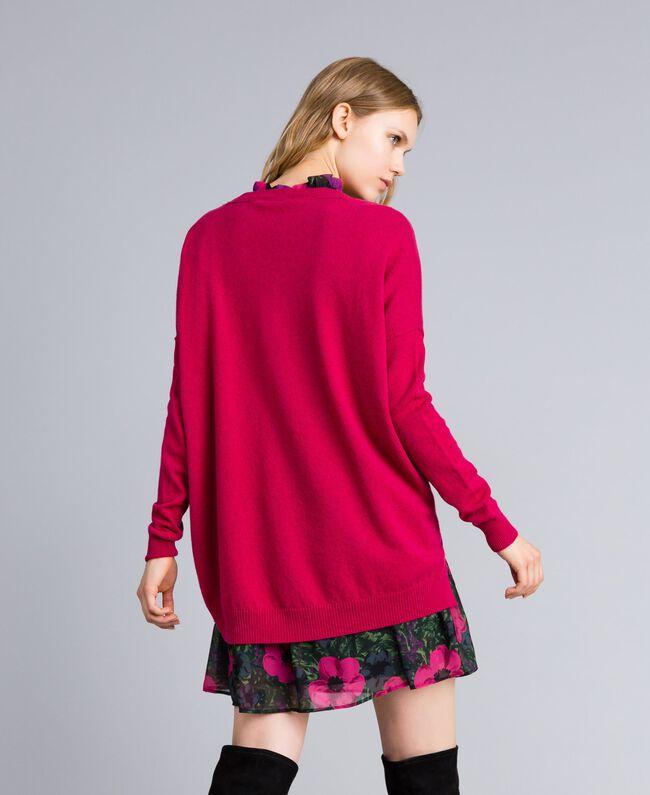 """Maglia lunga in lana e cashmere Fucsia """"Azalea"""" Donna TA83AE-03"""