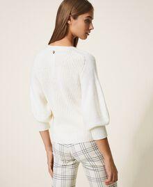 Pull en laine mélangée Blanc Crème Femme 202MP3162-03