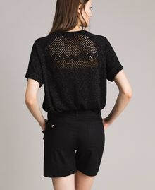 Poplin shorts with ruches Black Woman 191MT2053-03