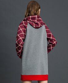 'Tury x Twinset' maxi sweatshirt White / Checks Woman 192LL21CC-03