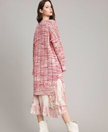 Maxi cardigan with ribbons Multicolour Pink Pattern Woman 191TP3280-04