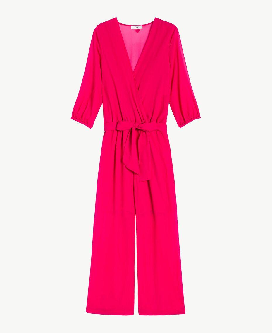 """Viscose jumpsuit """"Voluptuous"""" Pink Woman MS8FGG-01"""