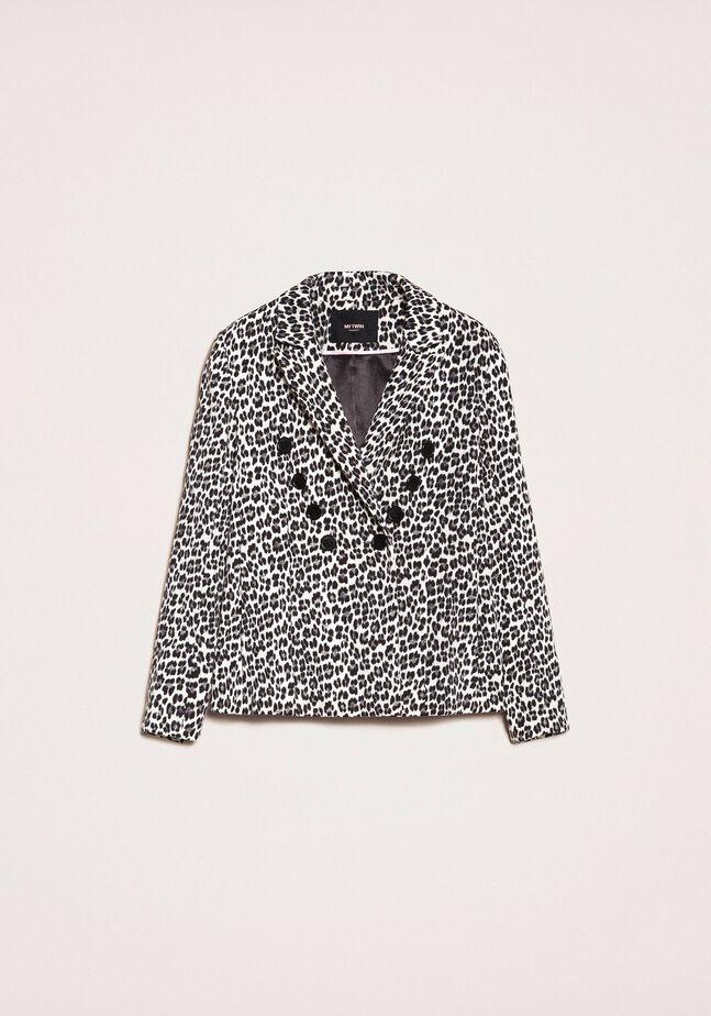 Animal print blazer