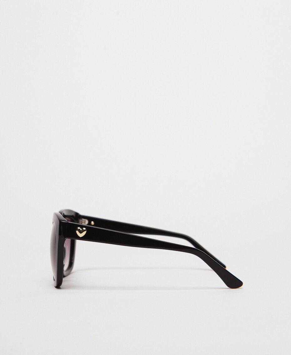 Eckige Sonnenbrille Grau / HellBlau Frau 999TZ4012-02