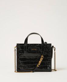 """Borsa Twinset Bag piccola in pelle a stampa cocco Stampa Cocco Rosso """"Ciliegia"""" Donna 202TB7111-02"""