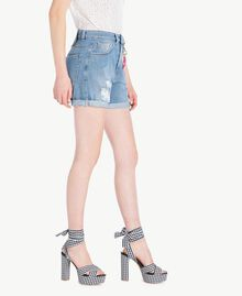 Denim shorts Denim Blue Woman YS82Q7-02