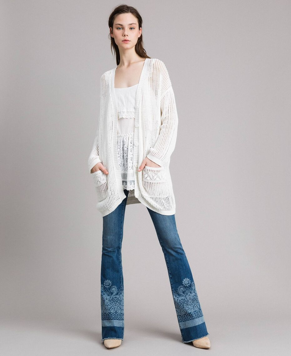 Openwork knitted cardigan Off White Woman 191ST3041-03