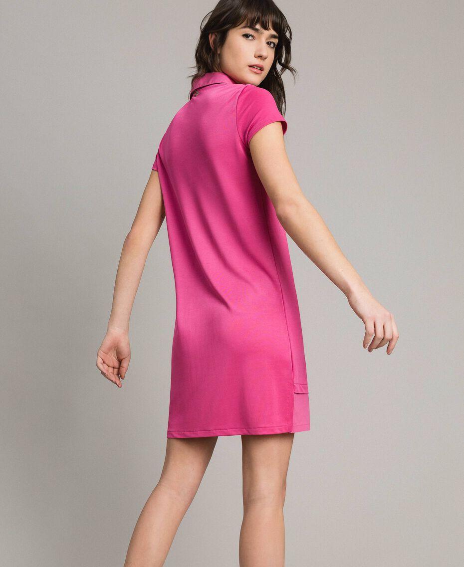 Minirobe chemise en jersey Bouton De Rose Femme 191LL23NN-03
