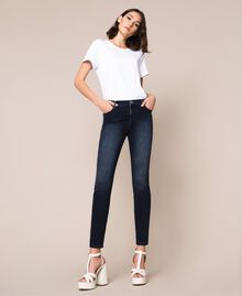 Jeans push up con strass Denim Blue Donna 201MP2310-02