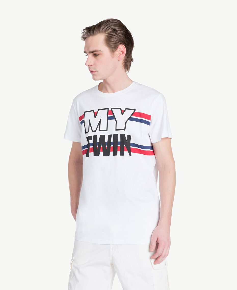 Logo t-shirt Matte White Man US8228-01