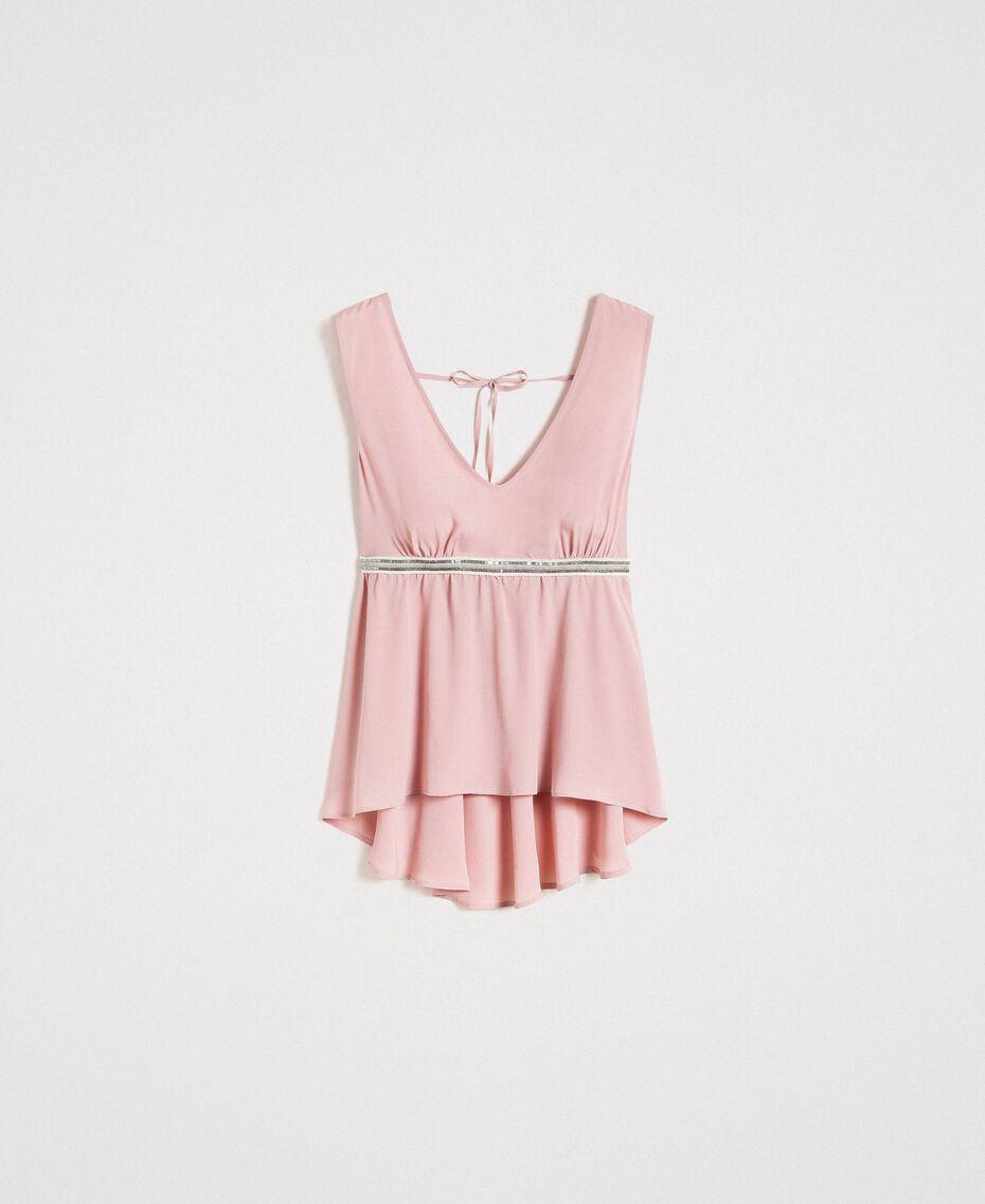 """Top mit Pailletten """"Pink Bouquet"""" Pink Frau 191LB2LEE-0S"""
