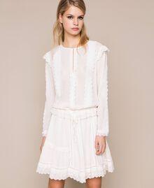 Blouse en broderie anglaise Blanc Neige Femme 201TP2492-01