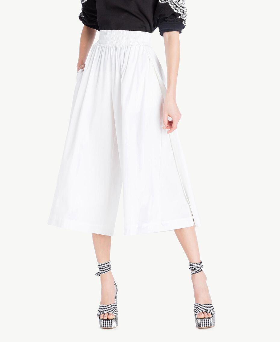 Poplin skirt White Woman JS82DM-01