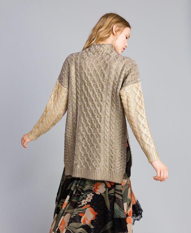 Maxi maglia laminata Bicolor Bronzo / Oro Donna TA831C-03