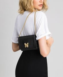 Small printed leather shoulder bag Black Woman 192TO8043-0S