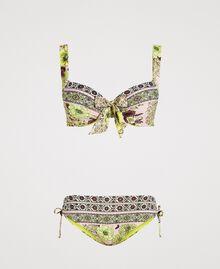 """Bikini imprimé foulard Imprimé Foulard Jaune """"Jus De Citron"""" Femme 191LBMH55-01"""