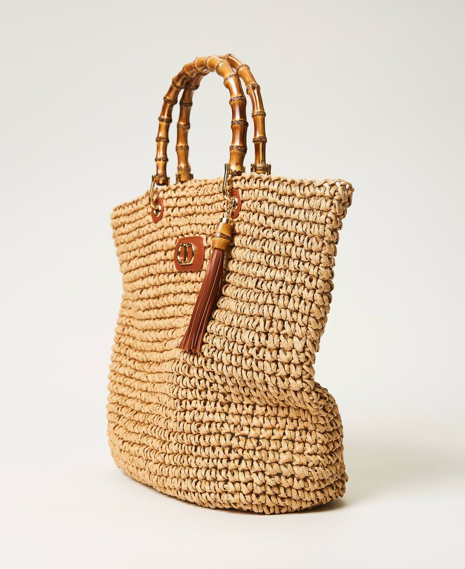 Weaved raffia shopper Straw Woman 211TD8240-02