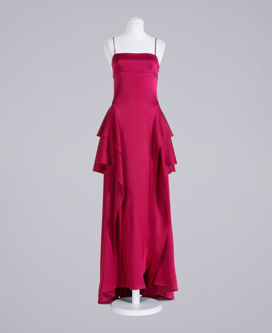 "Long dress ""Anemone"" Fuchsia Woman QS8TGF-0S"