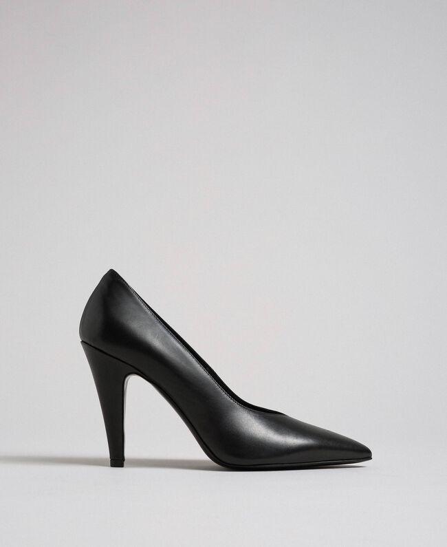 Escarpins en cuir Noir Femme 999TCP010-04