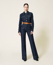 Giacca 'Gold' in jeans Denim Rinse Donna 212AP2143-0T