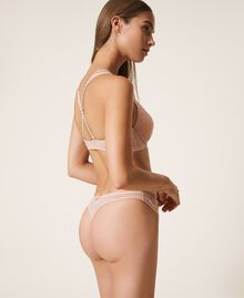 Lace and tulle G-string Black Woman 202LI6188-03
