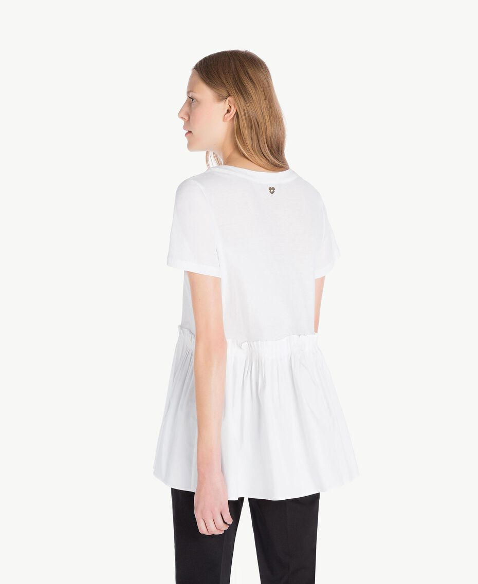 T-Shirt aus Jersey Weiß Frau TS821J-03
