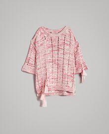 Pull ajouré avec rubans Multicolore Motif Rose Femme 191TP3281-0S