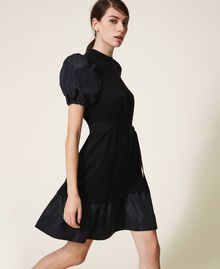 Taffeta and wool blend dress Black Woman 202TP3251-01
