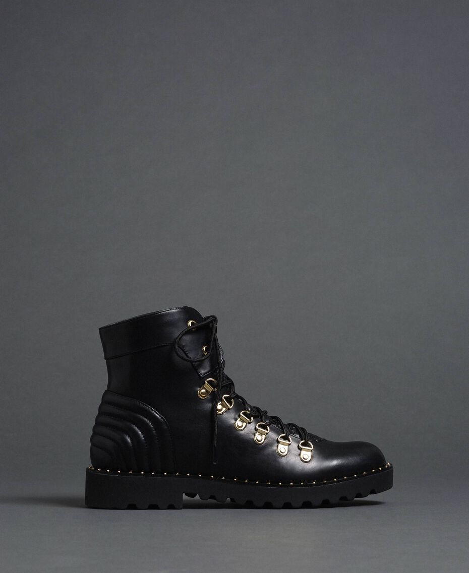 Combat boots with trekking-style fastening Black Woman 192MCP09A-02