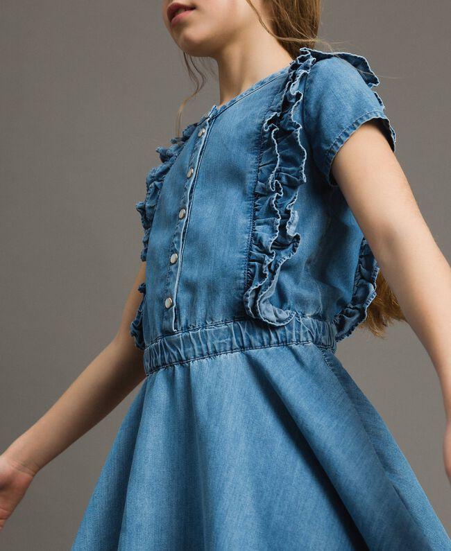 Denim dress with ruches Soft Denim Child 191GJ2562-04