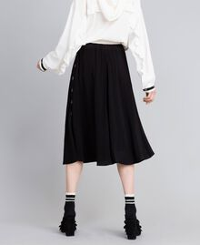 Georgette skirt Black Woman PA82HJ-03