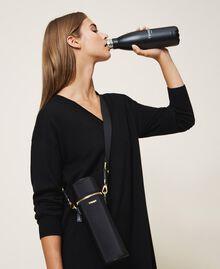 Trinkflaschenset mit Tasche aus technischem Satin Schwarz Frau 202TD8086-0T