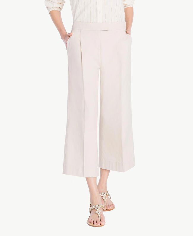 Poplin cropped trousers Dune Woman TS821U-01