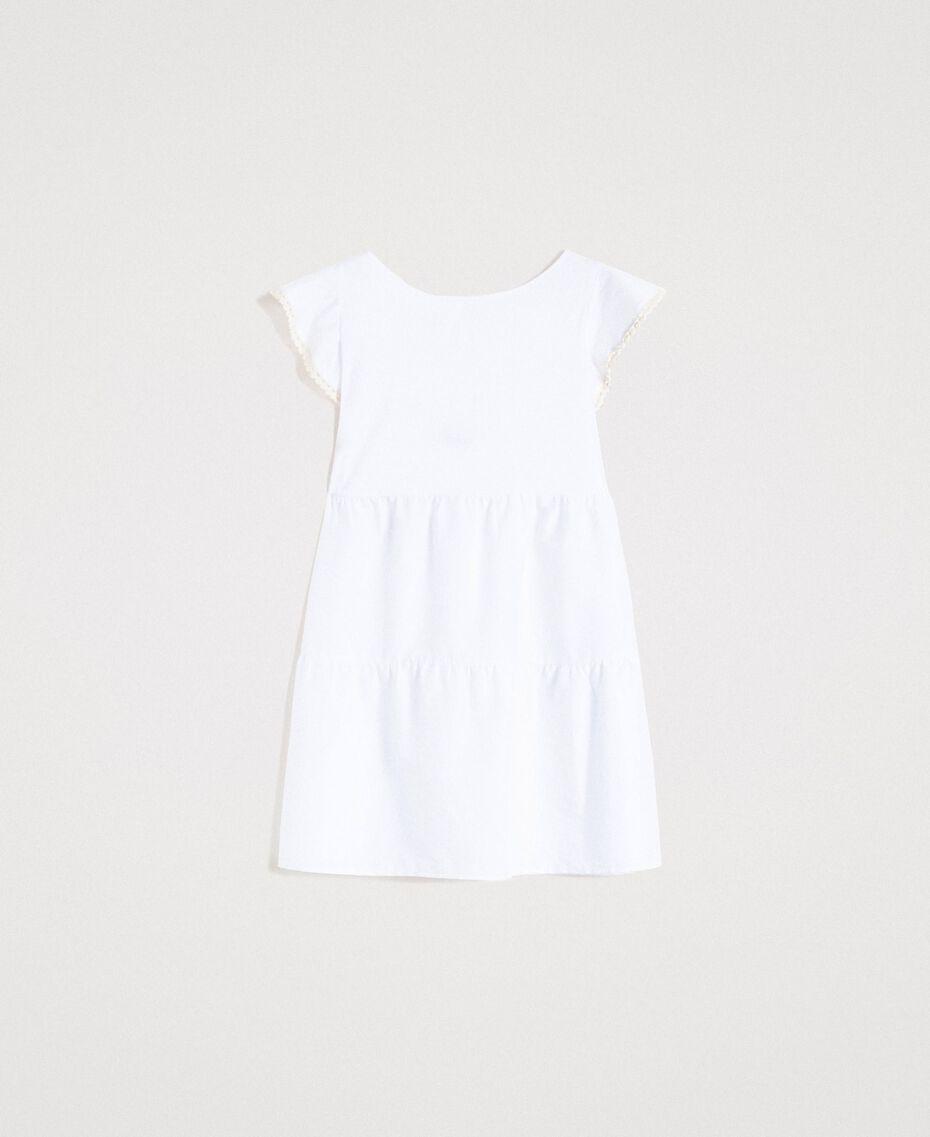 Robe en popeline Blanc Femme 191LB2JFF-0S