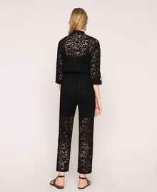 Macramé lace jumpsuit Black Woman 201TP2195-04