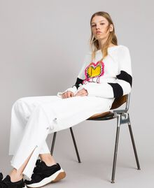 Wide-Leg-Jeans mit Schlitzen White Sahne Frau 191MP2500-0T