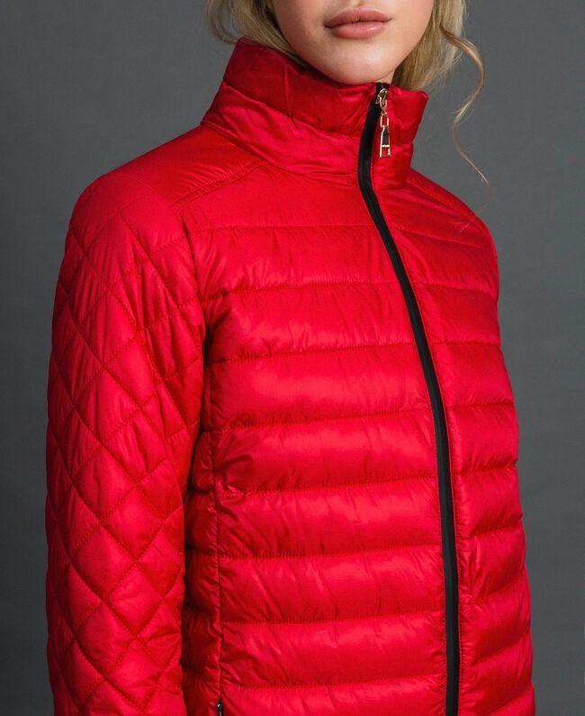 Piumino lungo ultraleggero Rosso Papavero Donna 192MP2101-04