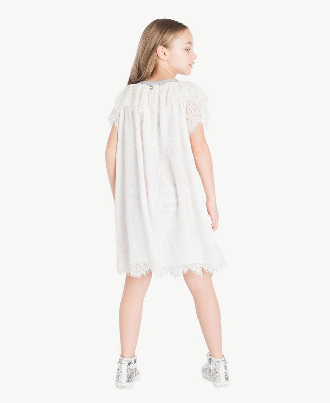 Lace dress Pale Cream Child GS82UQ-04