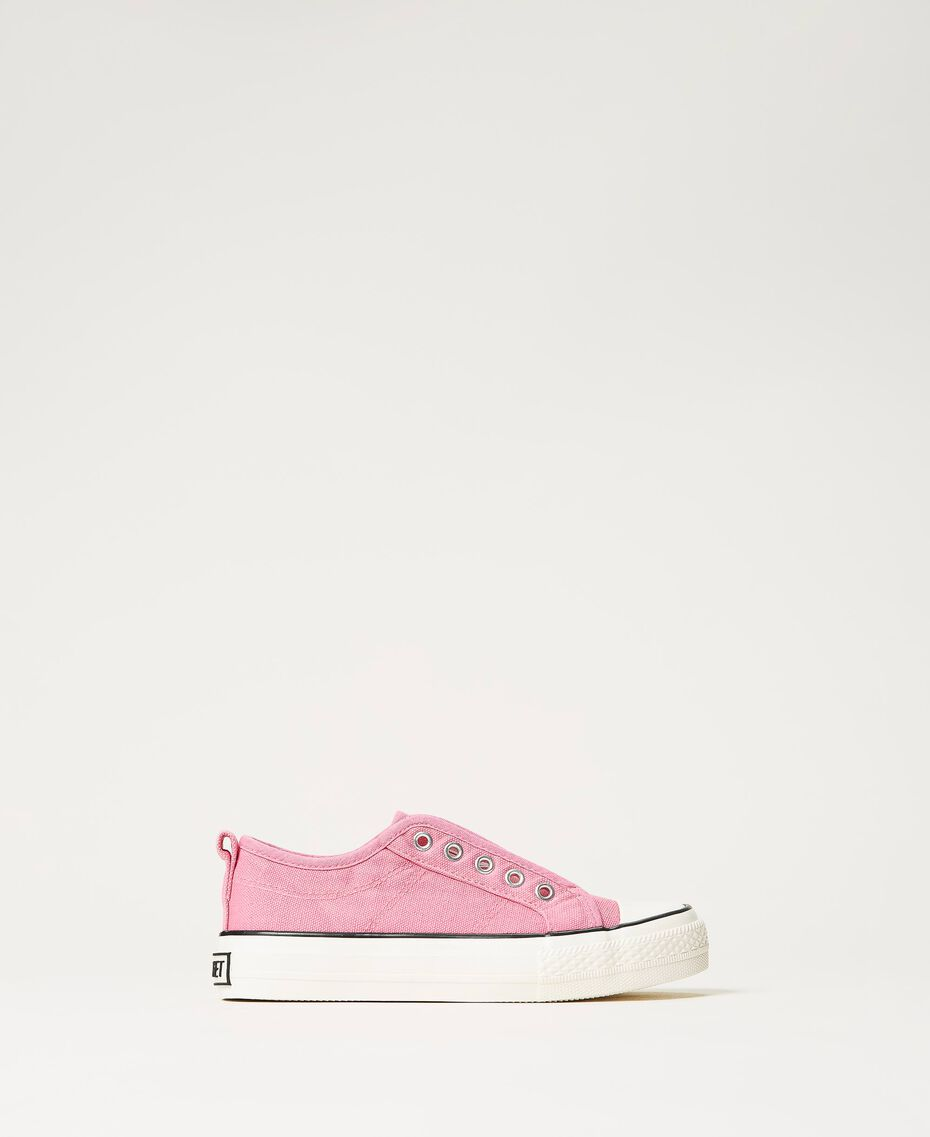 """Canvas trainers with logo """"Rose Bloom"""" Pink Child 211GCJ070-03"""