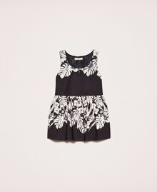 Poplin floral top Black Graphical Flower Print Woman 201TT2310-0S
