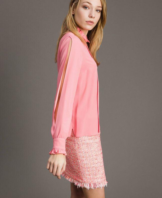 """Rüschen-Bluse aus Seidenmischung """"Wild Rose"""" Pink Frau 191TP2135-03"""