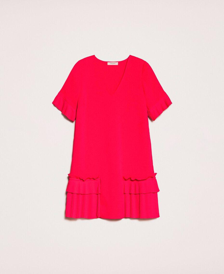 Georgette dress with pleats Black Woman 201TP2026-0S